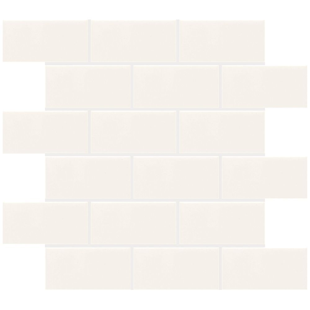 Finesse 12 inch x 12 inch x 8 mm ceramic mosaic wall tile in white finesse 12 inch x 12 inch x 8 mm ceramic mosaic wall tile in dailygadgetfo Choice Image