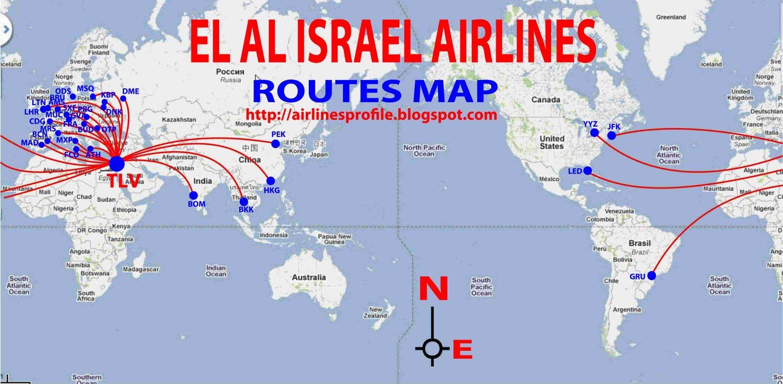 el al airlines 5 | El Al Israel Airlines routes map | Airline ...
