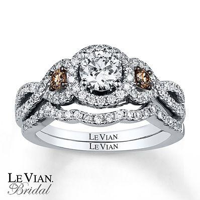 Le Vian Bridal Set 1 5 Ct Tw Diamonds 14k Vanilla Gold