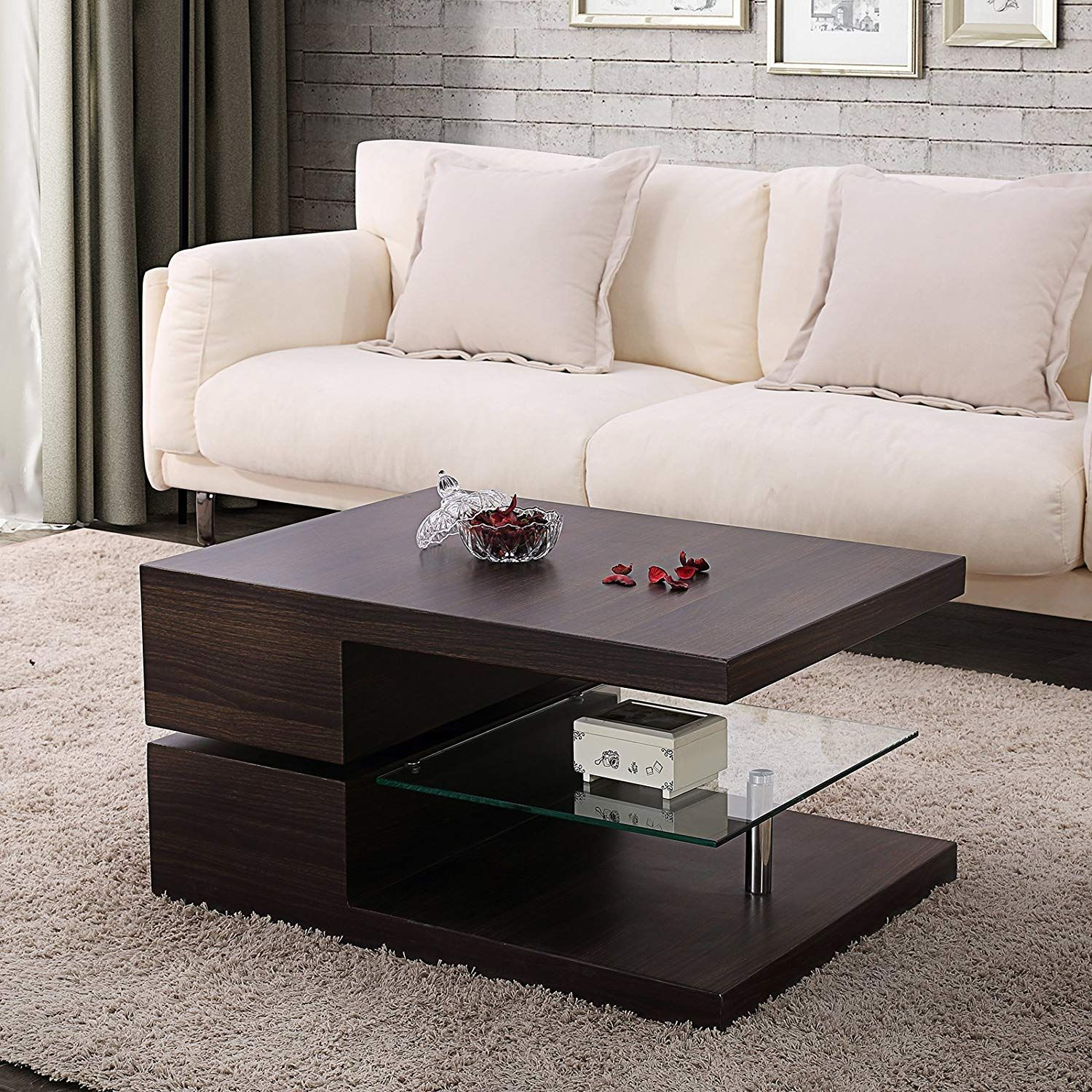 Capllov Swivel Rectangular Coffee Table Modern Side End Sofa Table With 360 Degree Rotating Living Room Coffee Table Coffee Table Living Room Furniture Online [ 1500 x 1500 Pixel ]