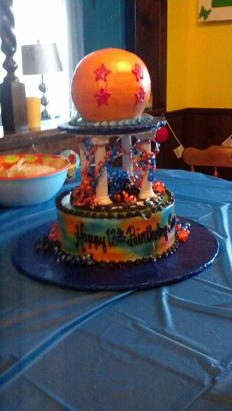Dragon Ball Z Cake Decorations Custom Dragonball Z Cake  Bola De Dragon Z  Pinterest  Cake And