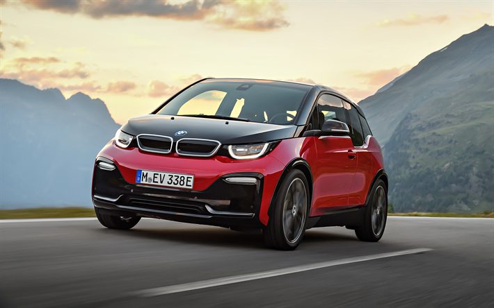 Download Wallpapers Bmw I3s 2018 Front View Electric Car Tuning
