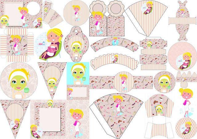 Completo Kit para Fiesta SPA de Baby Shower, para Imprimir Gratis.