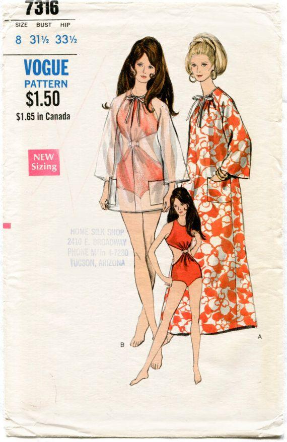 1960er Jahre 60er Jahre mad Men Jahrgang Nähen Muster Badeanzug ...
