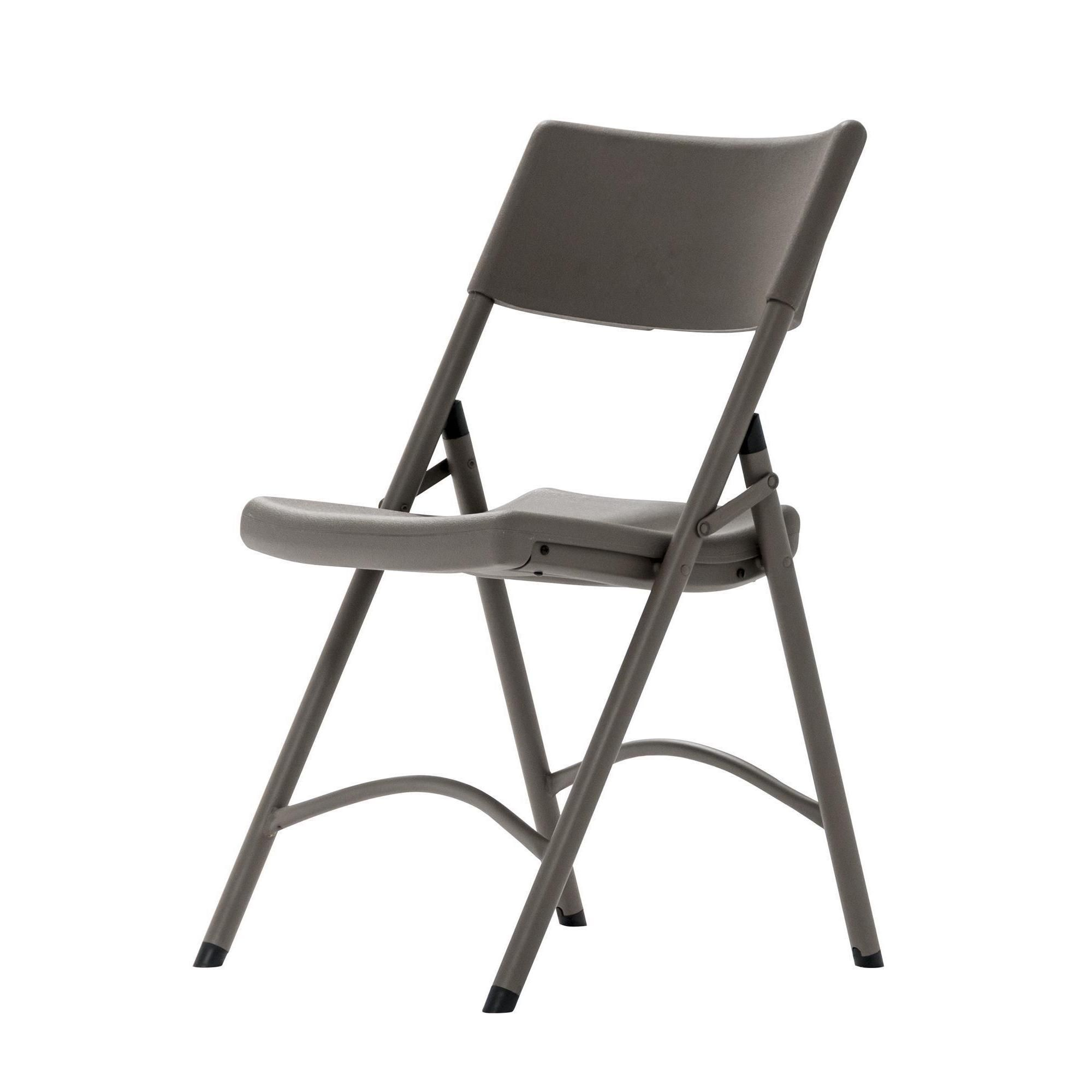 Cosco Folding Chair Cosco Commercial 4 Pack Heavy Duty Blow Mold Brown Folding Chair