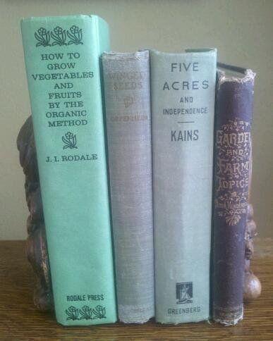 Vintage gardening books