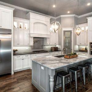 White Kitchen Cabinets 12 - White kitchen design, Galley kitchen remodel, Kitchen layout, Kitchen cabinet design, Farmhouse kitchen cabinets, Kitchen remodel - White Kitchen Cabinets 12