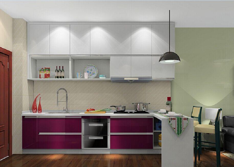 3d purple minimalist kitchen cabinet from Kitchen Cabinet Minimalist ...