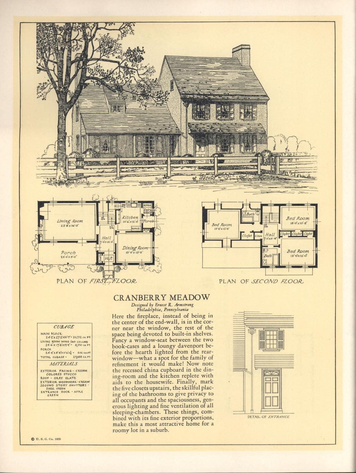 Seventy two designs for fireproof homes blueprints floor plans seventy two designs for fireproof homes malvernweather Gallery