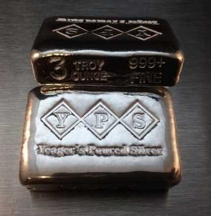 Buy Yps 3oz Classic Hand Poured Silver Bar Online At Shinybars Com We Offer Competitive Silver Prices And 24 7 Secure Ordering On All Yps 3oz Classic Hand Pour
