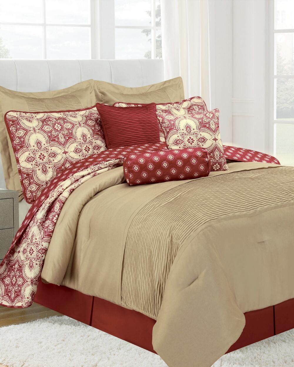 10 Piece Patina Microfiber Comforter Set