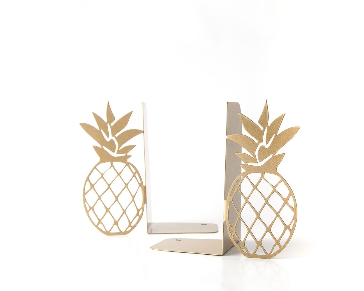 Metal bookends Pineapples Kitchen book holders Functional