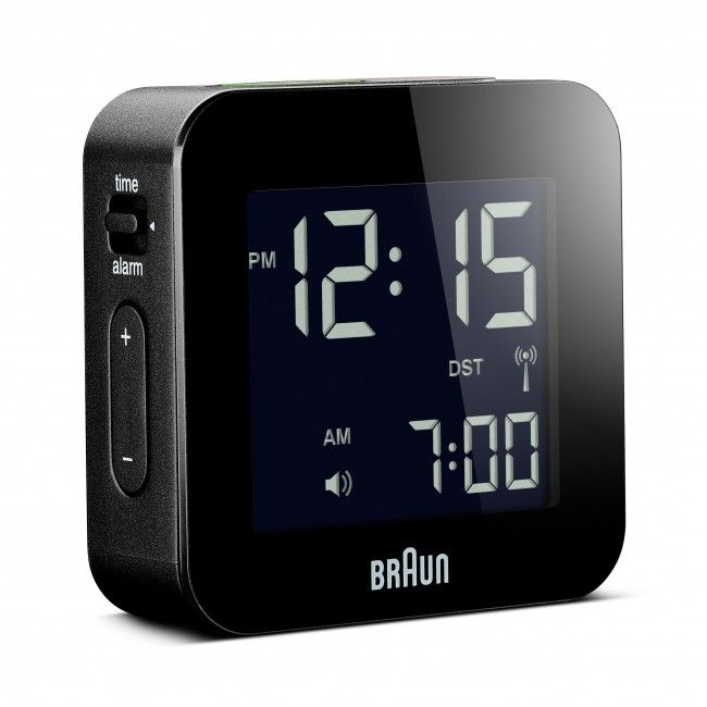 Bnc008 Rc Digital Global Radio Controlled Travel Alarm Clock With Images Travel Alarm Clock Alarm Clock Clock