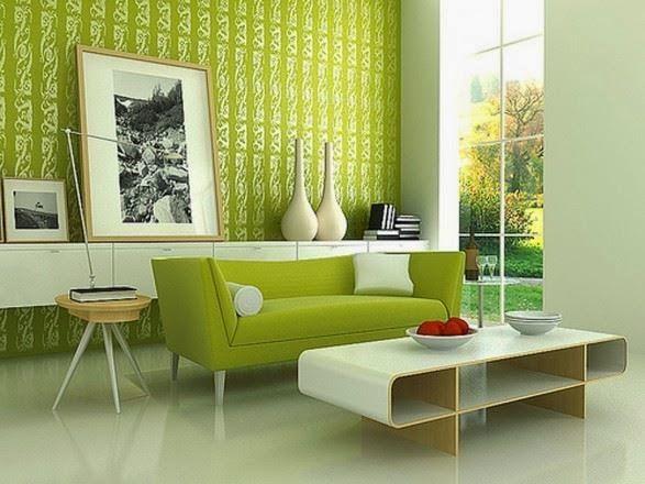 gambar-wallpaper-ruang-tamujpg (587×440) desain unik Pinterest