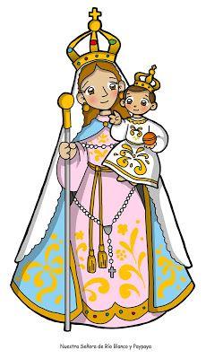 Dibujos Para Catequesis Nuestra Senora Del Rosario De Rio Blanco Y Paypaya Imagenes De La Virgen Rosarios Dibujos De Virgen