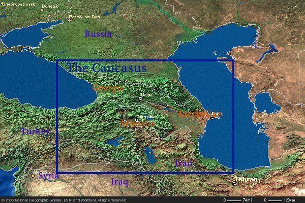 Detailed Map caucuasus mountains | Caucasus Mountains Map ...
