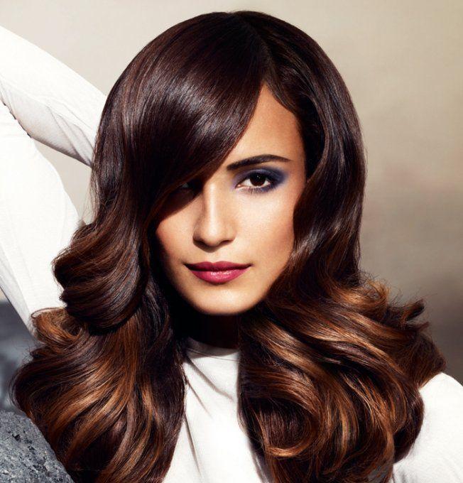 Couleur de cheveux brun marron