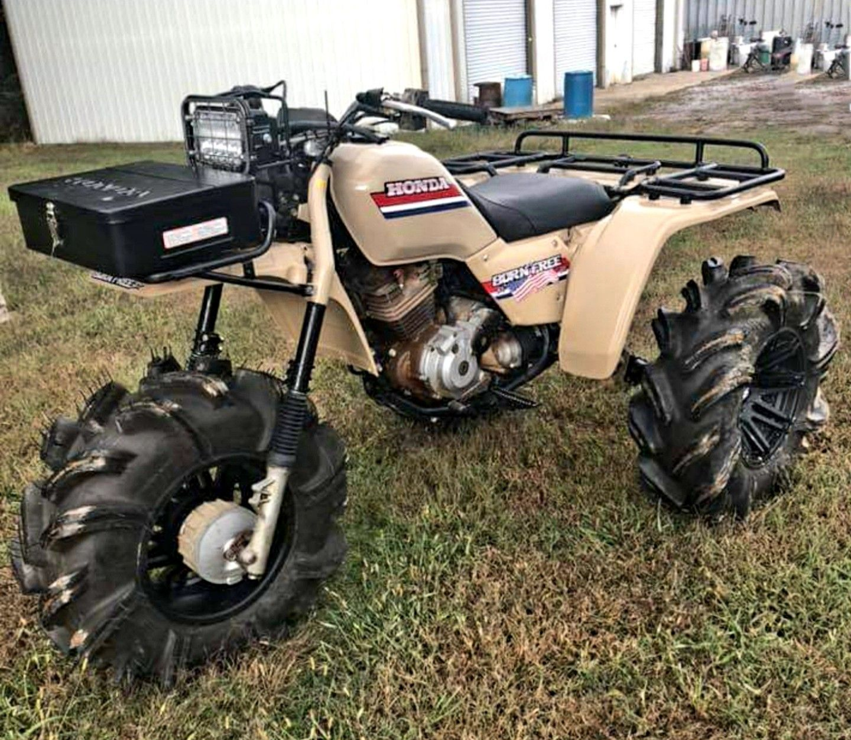 Custom Honda Atc300es Bigred Born Free Honda Trike Atv Quads Atv Four Wheelers