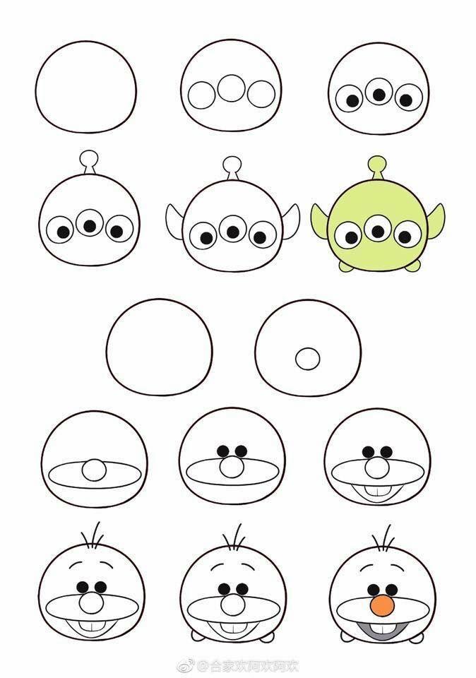 How To Draw Tsum Tsum Tutoriel De Dessin Dessins Disney