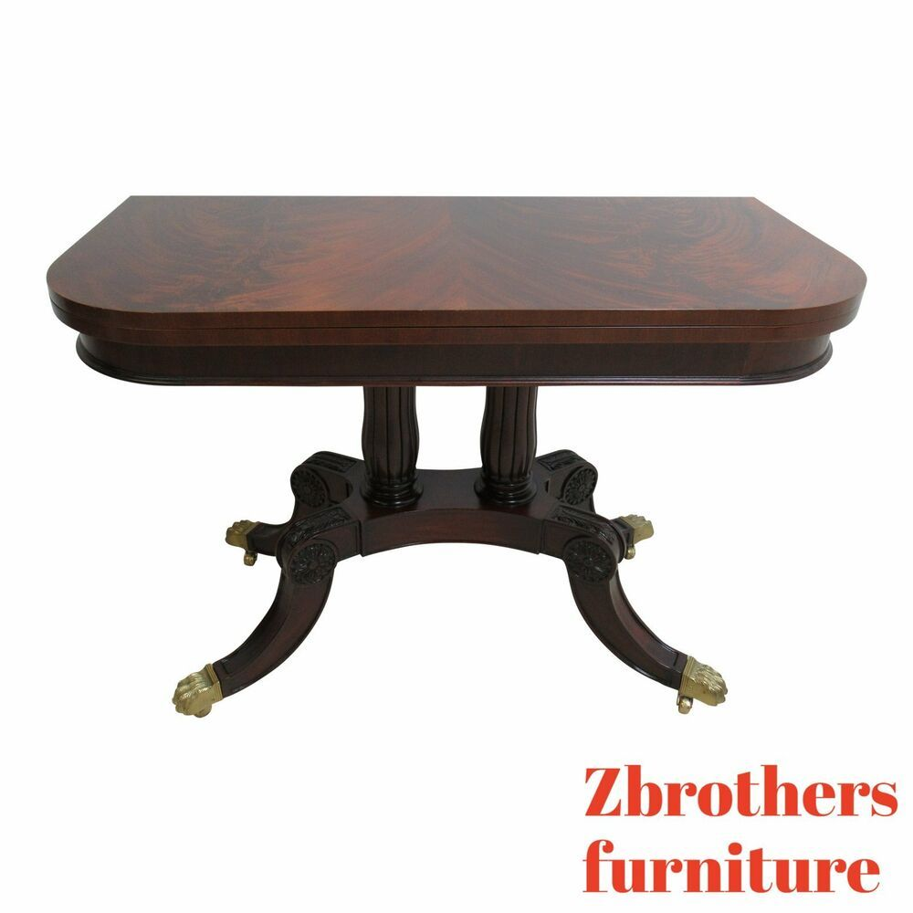 Councill Craftsman Furniture Flip Top Game Dining Table Paw Foot