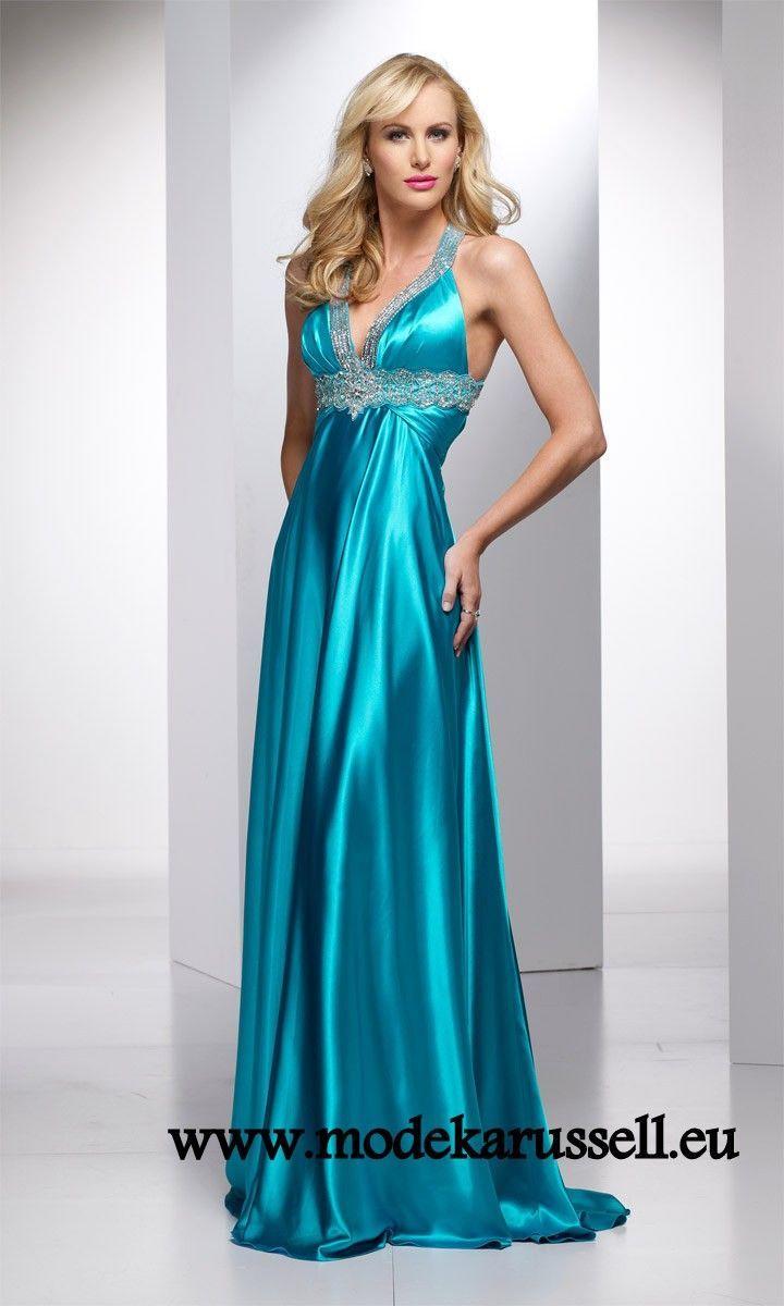 Neckholder Outlet Abendkleid in Blau | Abendkleid, Kleider ...