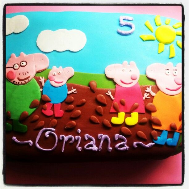 Torta decorada de Peppa pig