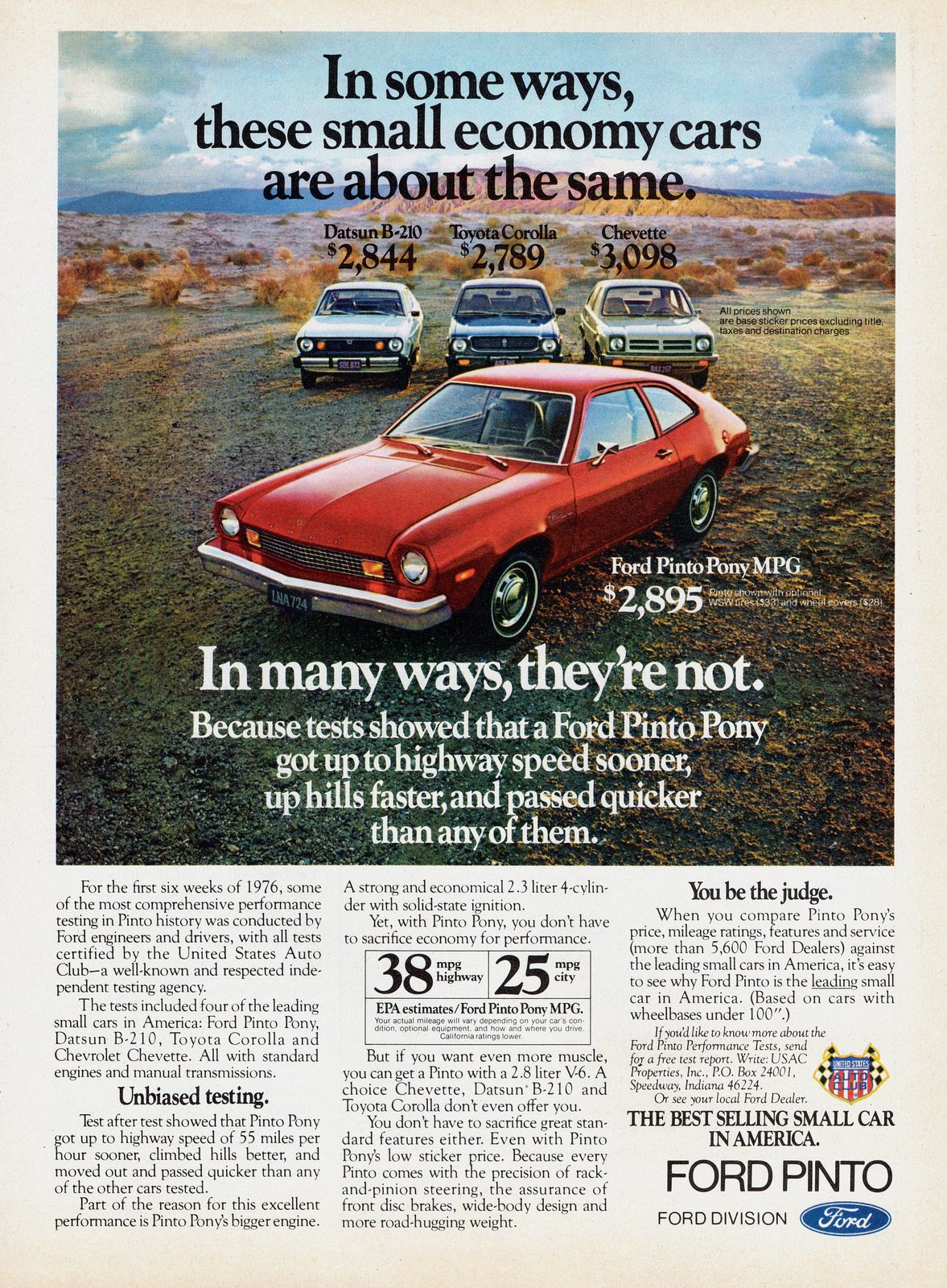 1976 Ford Pinto Pony MPG | Ford pinto, Ford and Car stuff