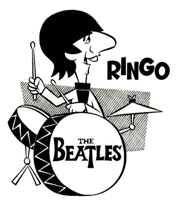 Image result for beatles christmas cartoon drummer for Beatles coloring book pages
