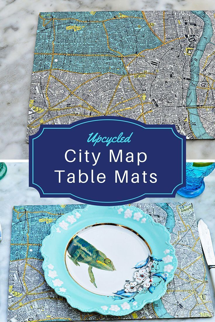 Easy Map Table Mats With City