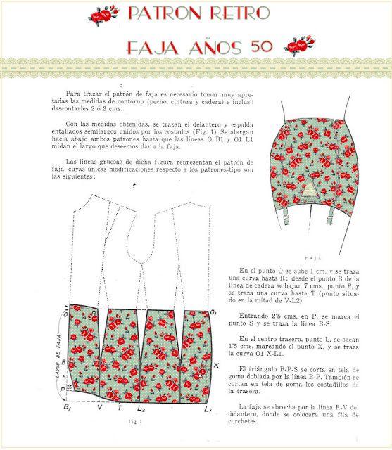 retro pattern for a girdle. In spanish. | FASHION | Pinterest ...