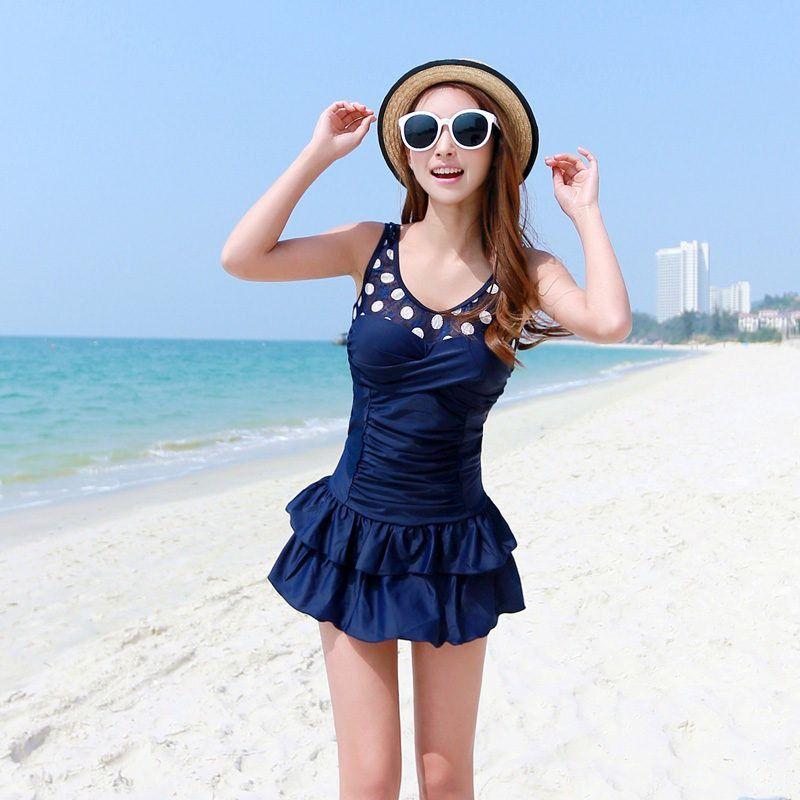 437f053958d Plus Size XXL Swimwear Women Sexy Push Up Bra One Piece Swimsuit Female  Skirt Slim Bathing