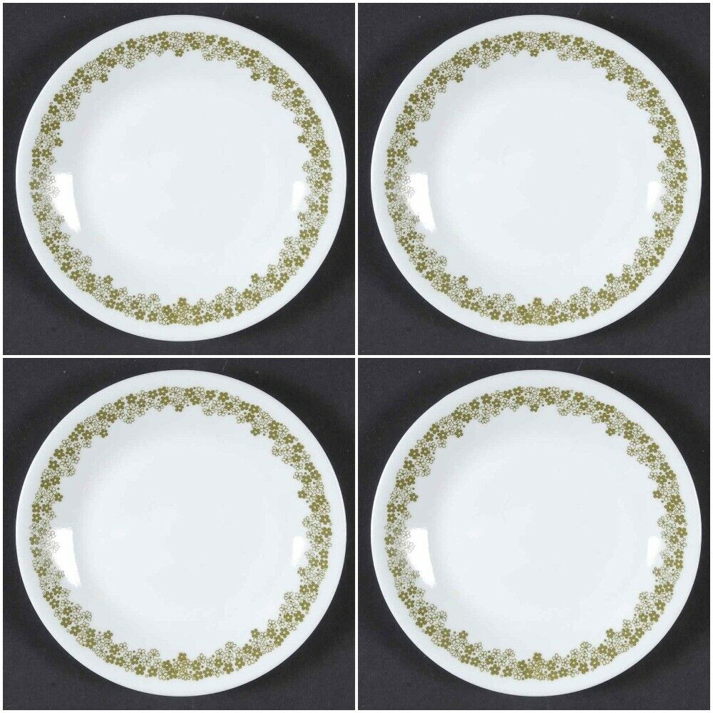4 Corning Corelle Bread And Butter Plates Spring Blossom Crazy