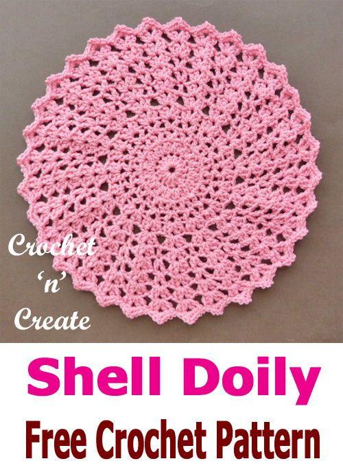 Crochet Shell Doily | Moogly Community Board | Pinterest | Decken ...