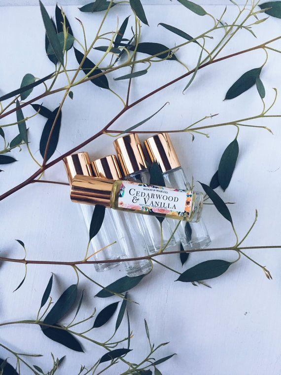 CEDARWOOD & VANILLA Natural Roll-On Perfume by Wood & Wax, Co.