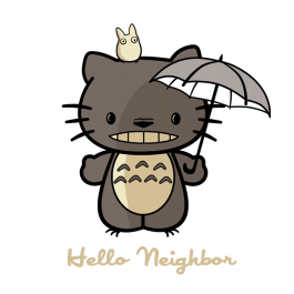 Get this TeeFury.com Shirt right now! Grab this parody Totoro Hello Kitty shirt today.