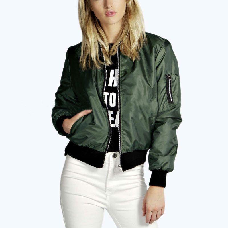 8ec989d049087 Jacket Coat 2017 Fashion Autumn Basic Jackets Casual Short Bomber Jackets  Dzhinsovki Bomper Army Jacket Pilot Coats With Pocket -  bestseller  seller   best ...