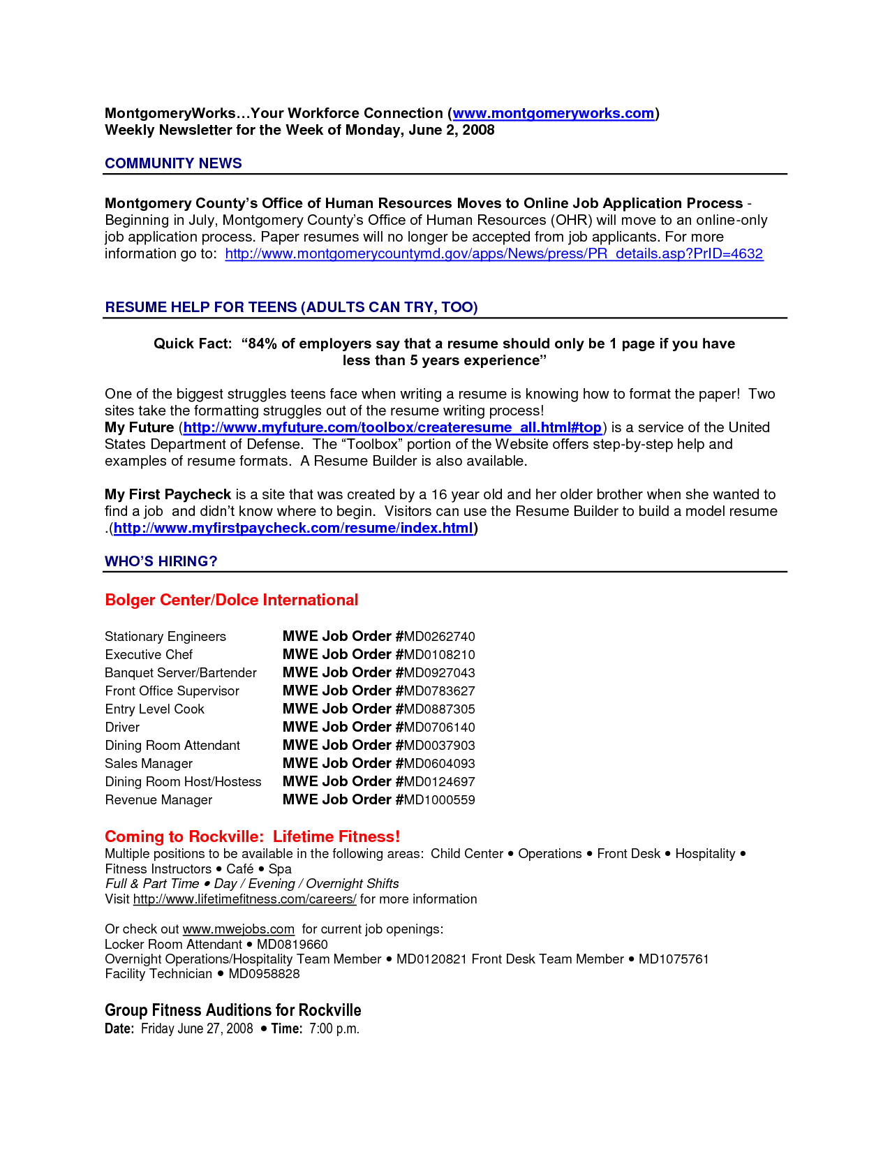 Serving Job Resume Examples Server Description Sample  Home