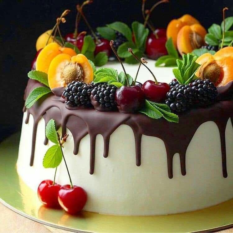 Pin By Kaili A On Kake Cake Decorated With Fruit Funny Cake Chocolate Cake Decoration