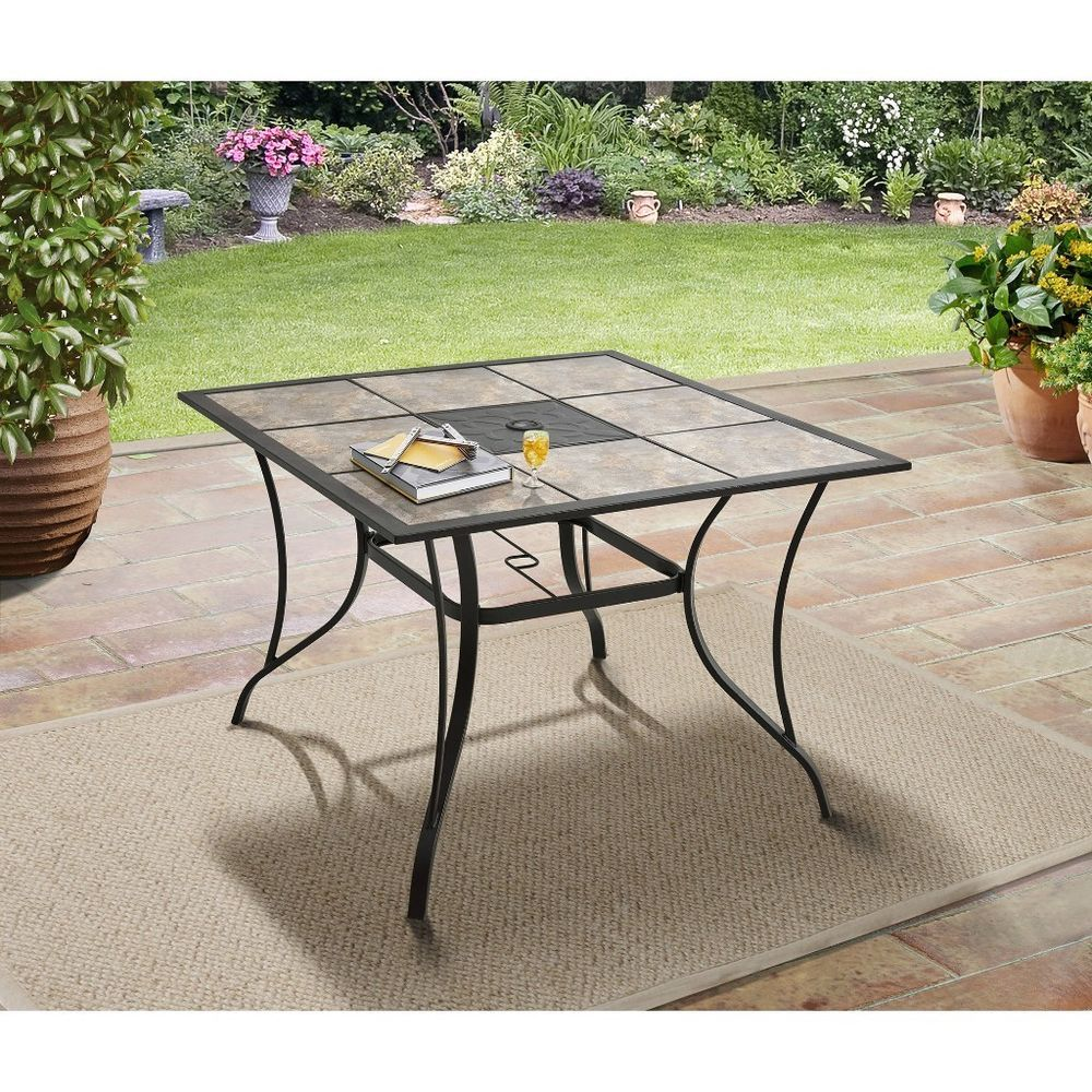 small outdoor dining table square patio