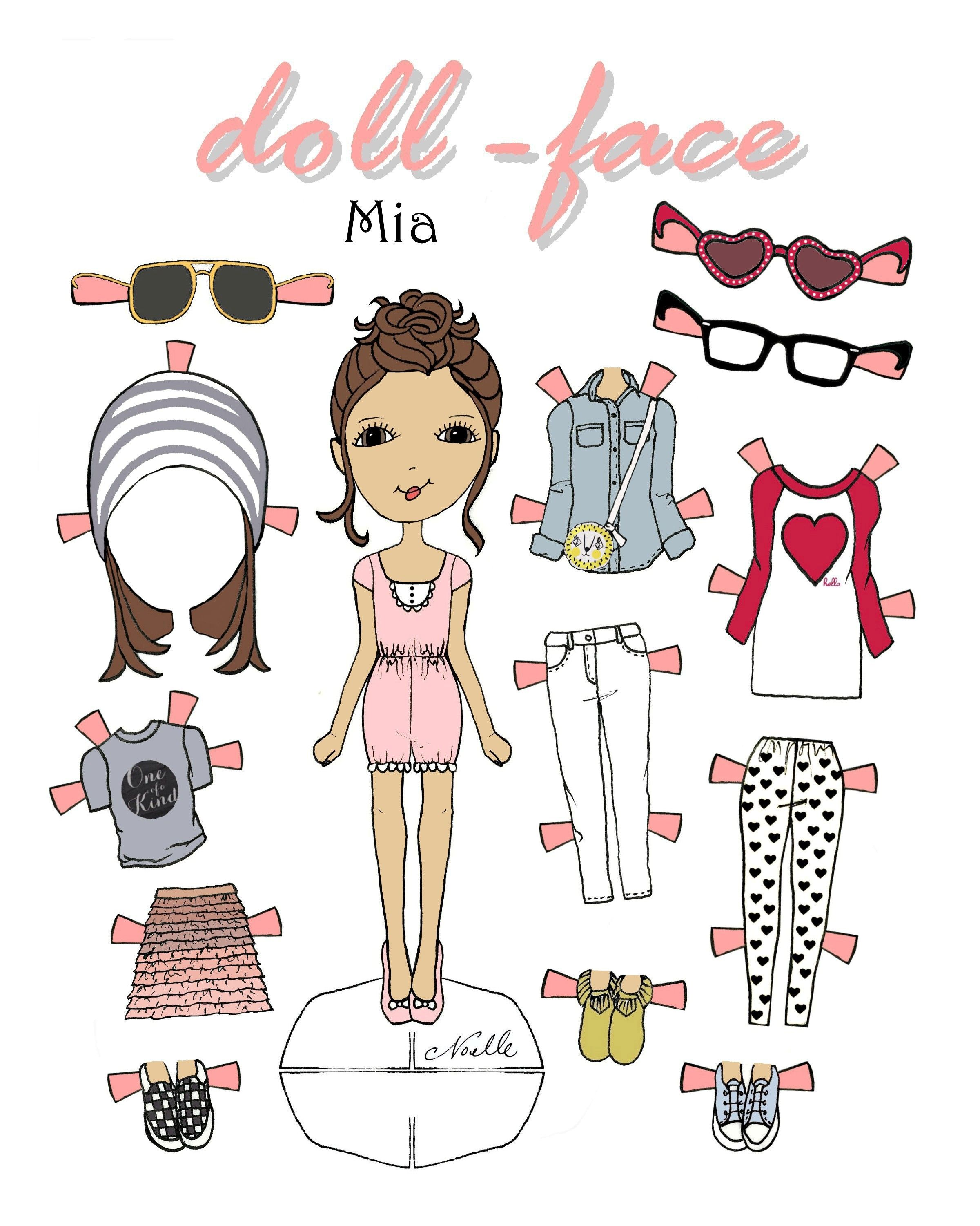 Doll Face Mia Printable 1500 Free Paper Dolls At Arielle Gabriels The International Society Also China Adventures Of