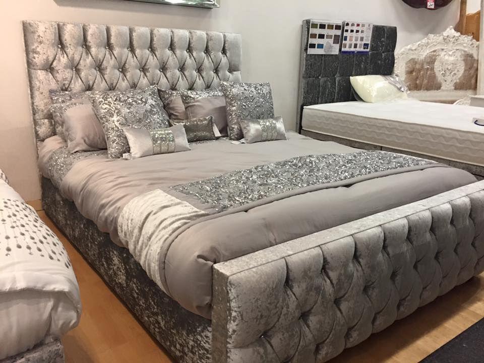 Elizabeth Bedframe And Mattress Silver Bedroom Silver Bedroom