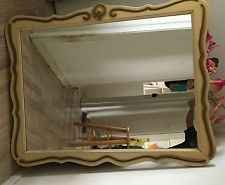 Large Vintage French Provincial Style Wall Mirror Shell Chic Shabby Pickup Only