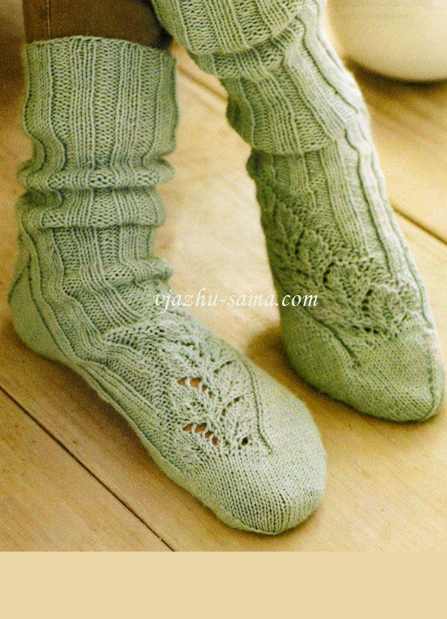 Вязание варежек и носок спицами 92