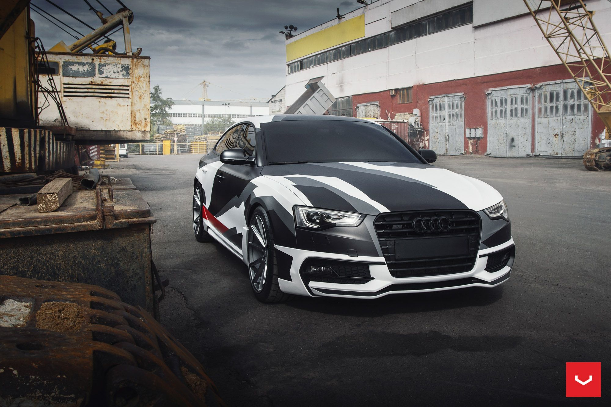 Audi q7 suv vossen wheels tuning cars wallpaper - Love The Camo Wrap And Of Course The Graphite Vossen Wheels On This Audi Usa Coupe