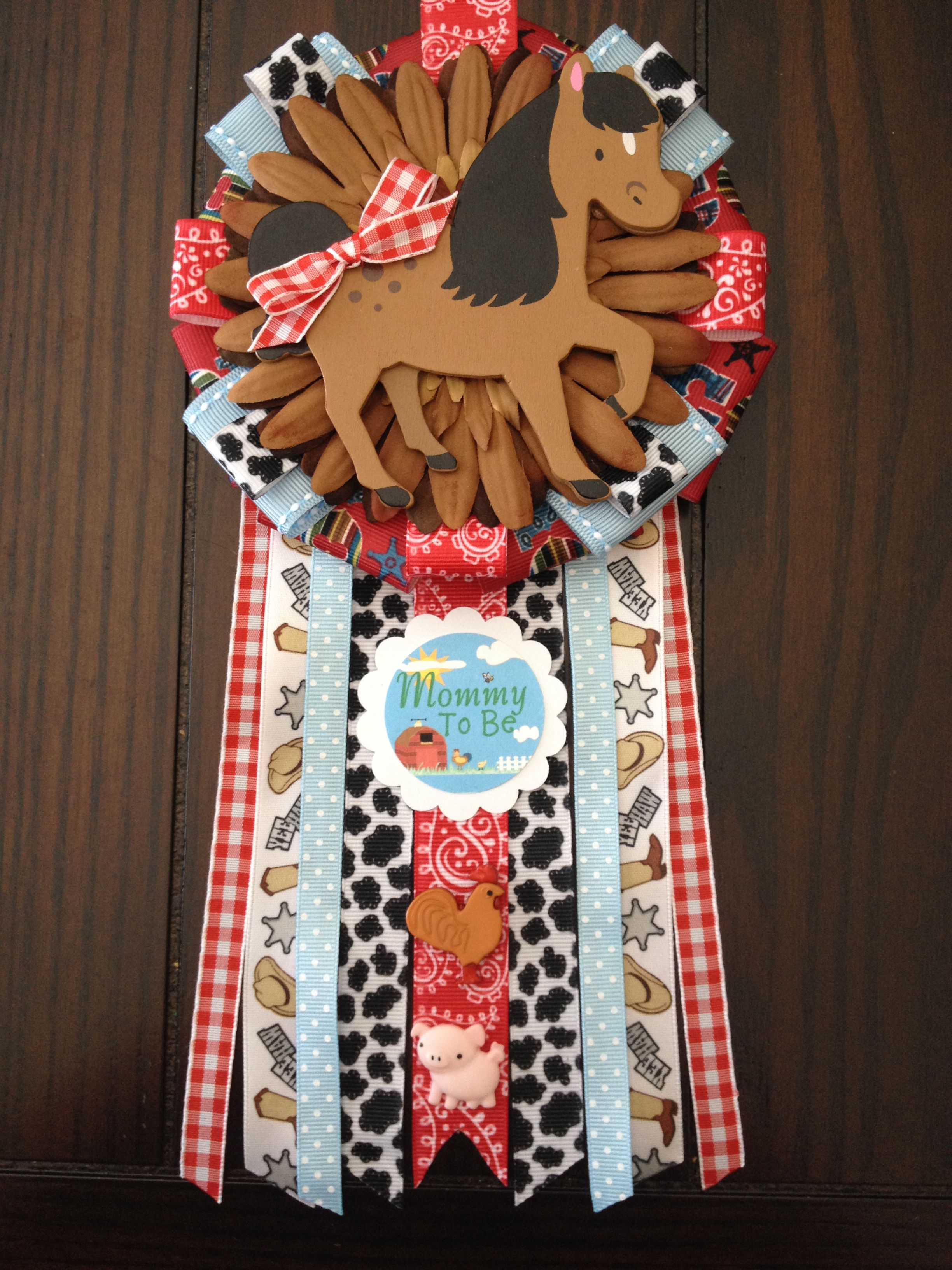 Western Mommy To Be Corsage On Etsy Cowboy Baby Shower Baby
