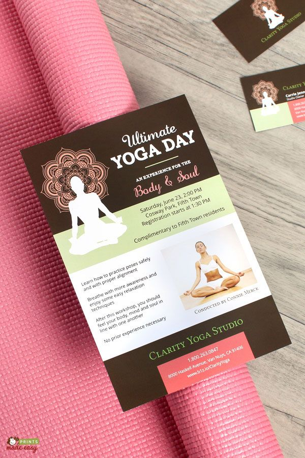 Design classy yoga flyers and business cards that will make design classy yoga flyers and business cards that will make enthusiasts excited for their first yoga reheart Choice Image