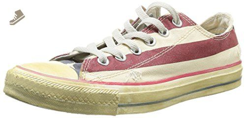 04a1326fcea48 Converse All Star Rummage Lo White/Navy/Rede Size 5 Mens / 7 Women ...