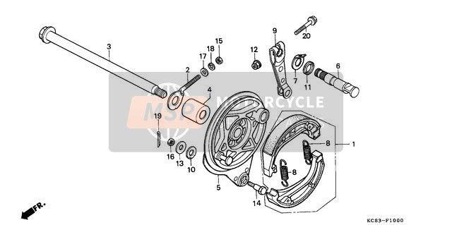 REAR BRAKE PANEL   Honda motorcycle parts, Honda, Honda cg125