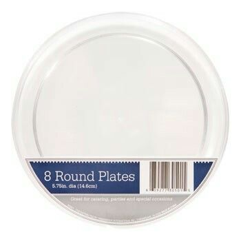 Clear dinner plates 8ct dollar tree surprise pearl 30th