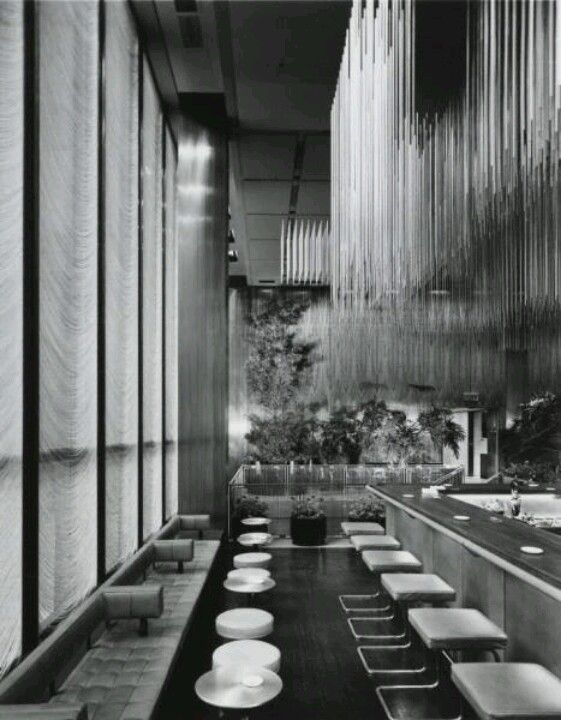 Four Season's Grill Room, the legendary power lunch mecca at Mies van der Rohe's Seagram Tower, NYC